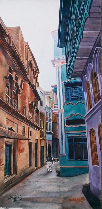 streets of lahore - south asian art