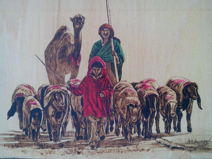 boy shepherd - south asian art