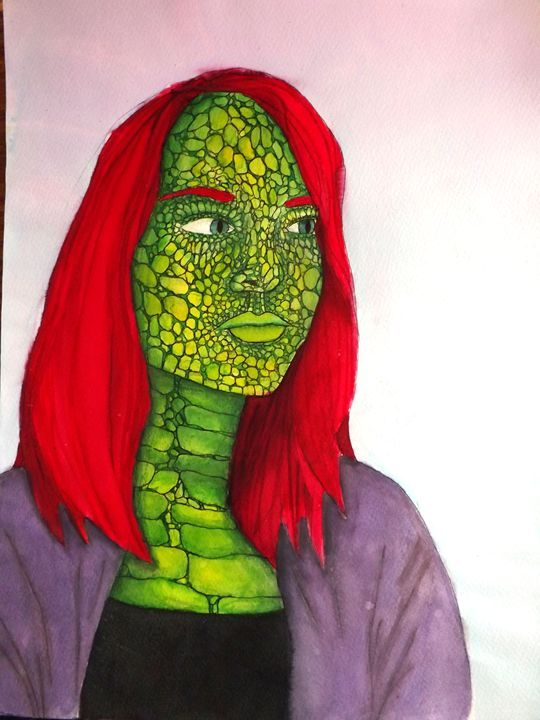 Lizard Self Portrait - Monica Scott