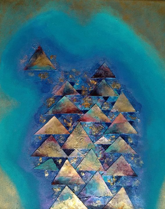 Convergence of Triangles on Turquois - LyndaRStevens