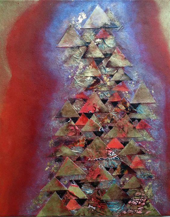 Triangles on Red - LyndaRStevens