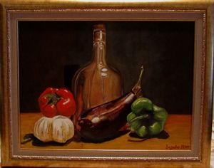 Still life Hand made Oil Painting