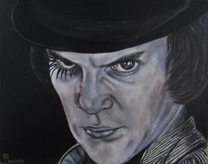 A Clockwork Orange Oil portrait