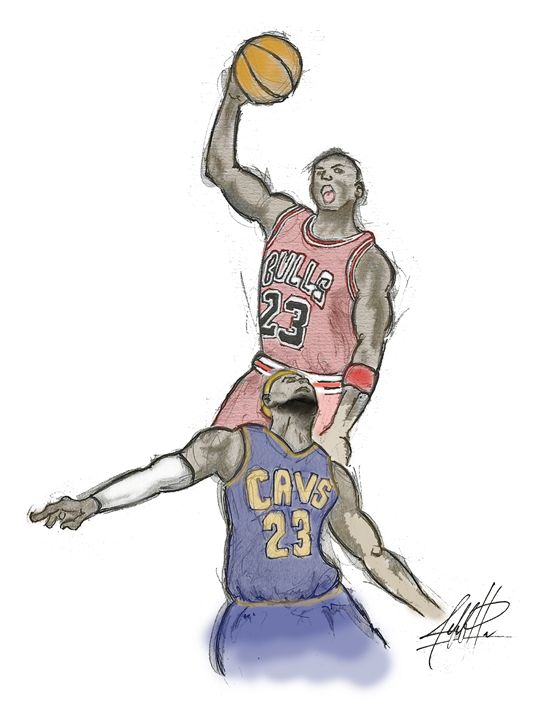 MIchael Jordan vs LeBron James - Jeff Hubbe's Gallery