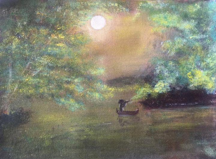 Beautiful moon light - Kiranmayee art