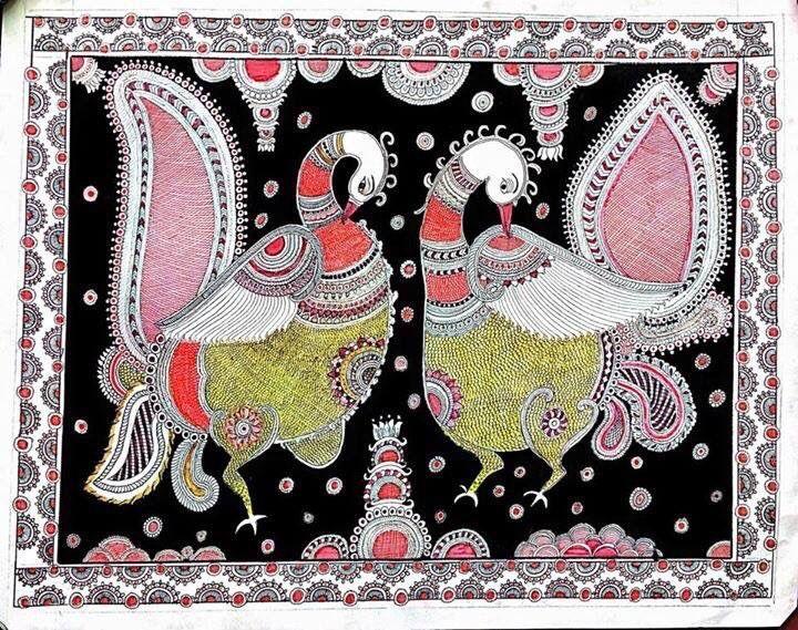 Peacock duo - Kiranmayee art