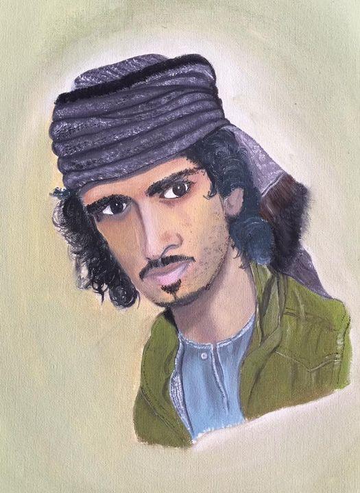Arab man - Kiranmayee art
