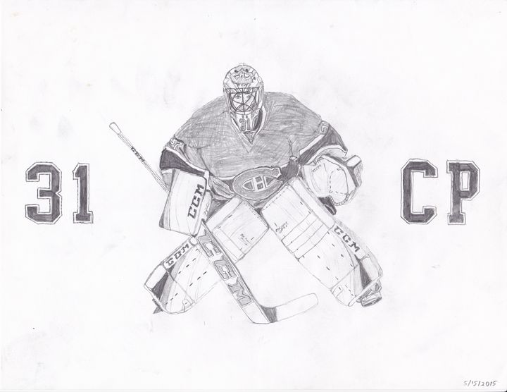 Carey Price - Montreal Canadiens - Art by Jack Safford