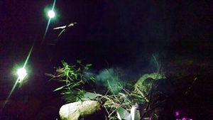 Green Fire @ Night