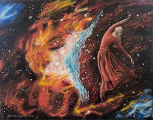 Ballet dancer in nebula #5