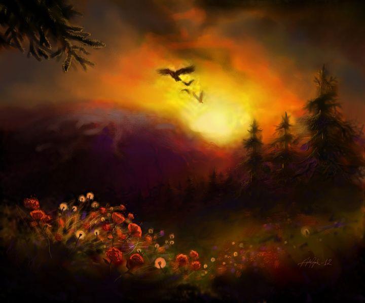 highland sunset - Anthon Bock