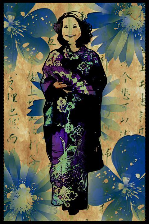 Geisha - Blue Elegance - Air Punch Robot