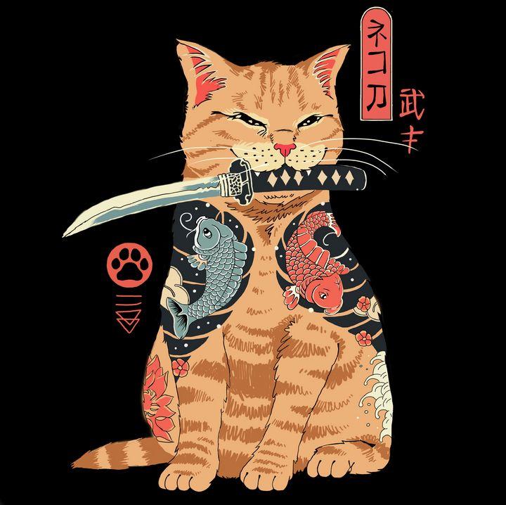 Catana - Samurai Cat - retrowave