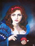 Snow White original oil painting