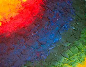 Palette Knife Rainbow