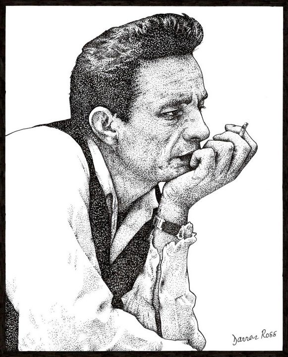 Johnny Cash - Darren Ross Artist