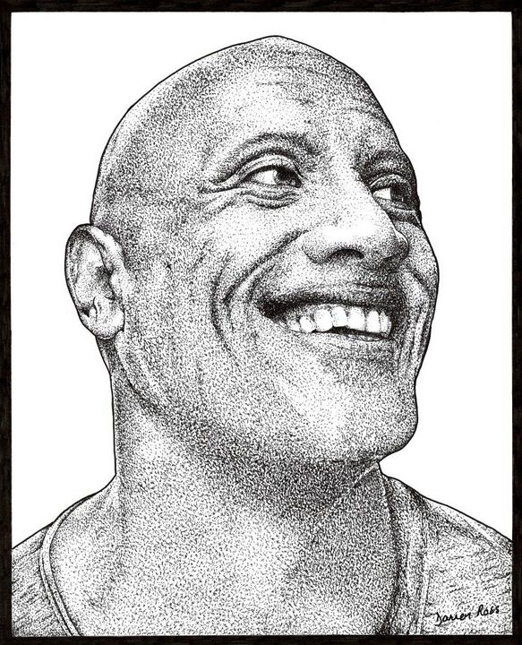 "Dwayne ""The Rock"" Johnson - Darren Ross Artist"