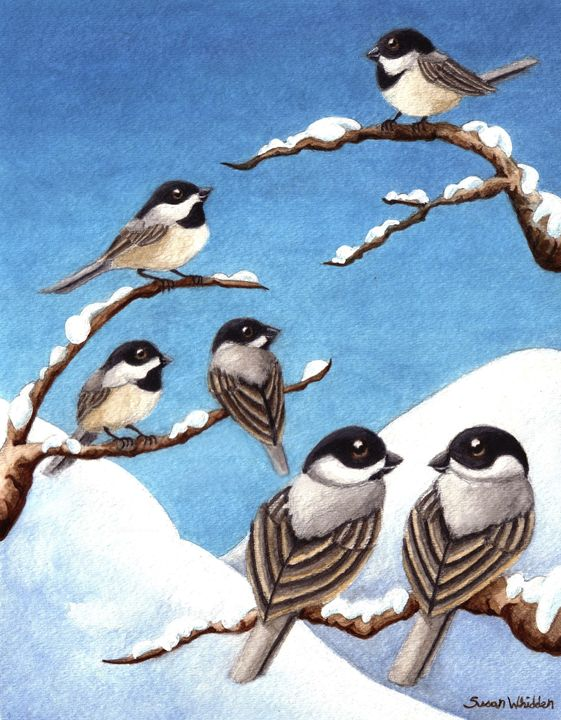 Chickadee Greetings - Susan Whidden Illustrations