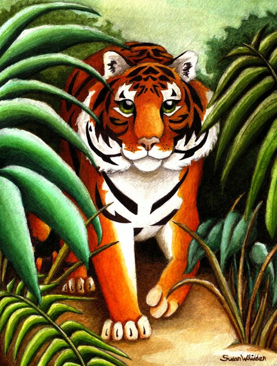 Emerging From the Jungle - Susan Whidden Illustrations