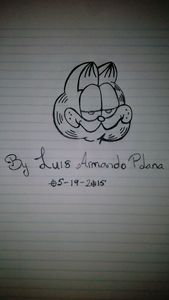 cartoon garfield - luis