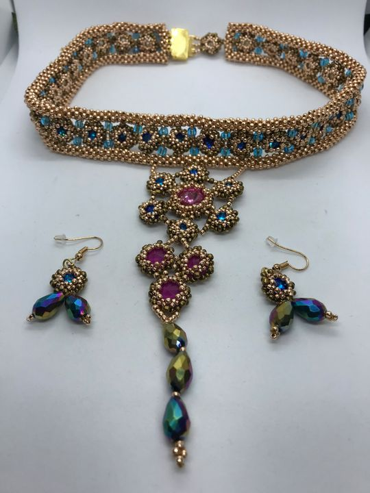 Rose gold  choker style necklace - Susan craker