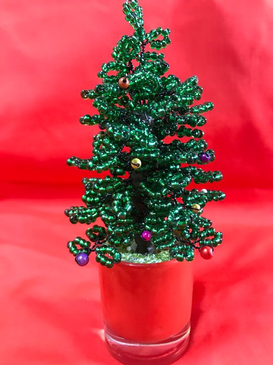 Christmas bonsai tree in a glass - Susan craker