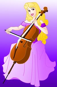 Princess Aurora Playing the Violin