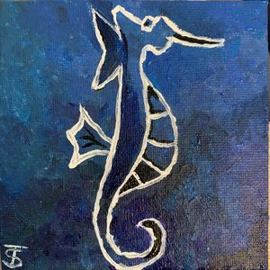 Deep Ocean Seahorse