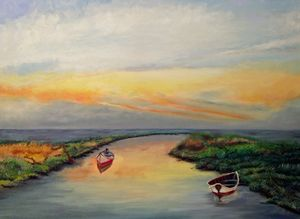 Boats in the Marsh