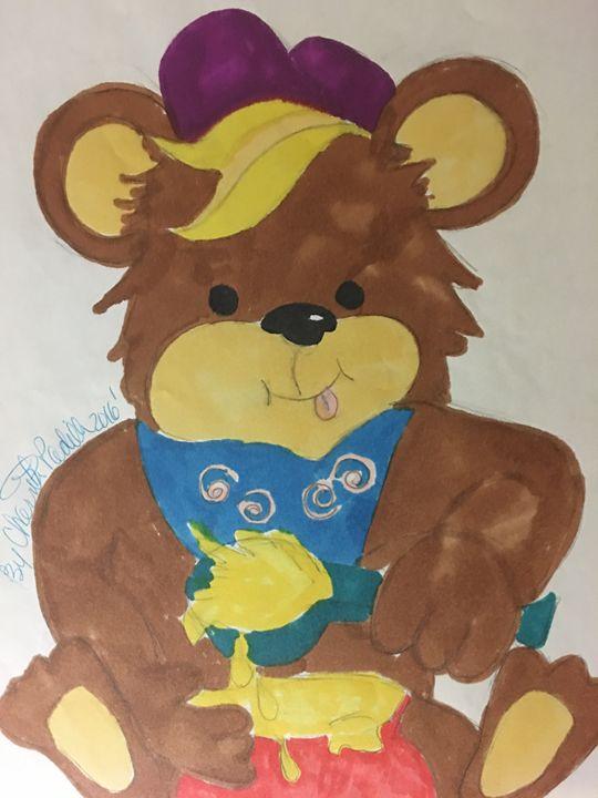 Honey Teddy Bear - Rita Arts Gallery