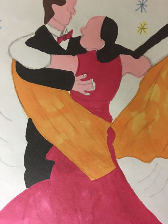 Ballroom Couple - Rita Arts Gallery