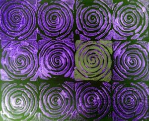 Purple Spirals