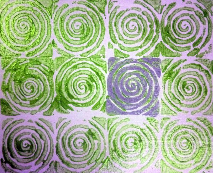 Green spirals - Chris Doyle