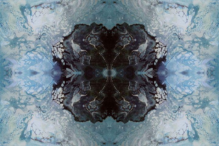 Black Reflection on Blue - Chris Doyle