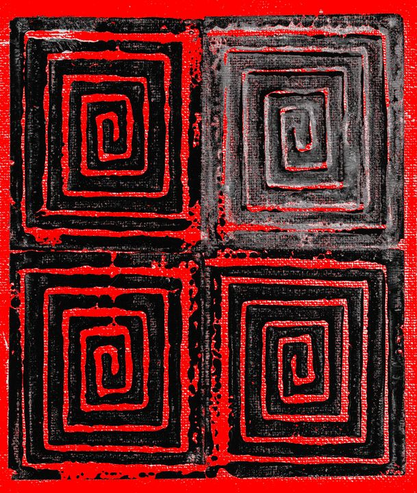 Spiral Squared Red - Chris Doyle