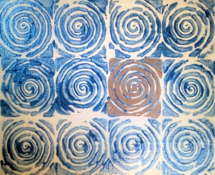 Blue Spirals - Chris Doyle