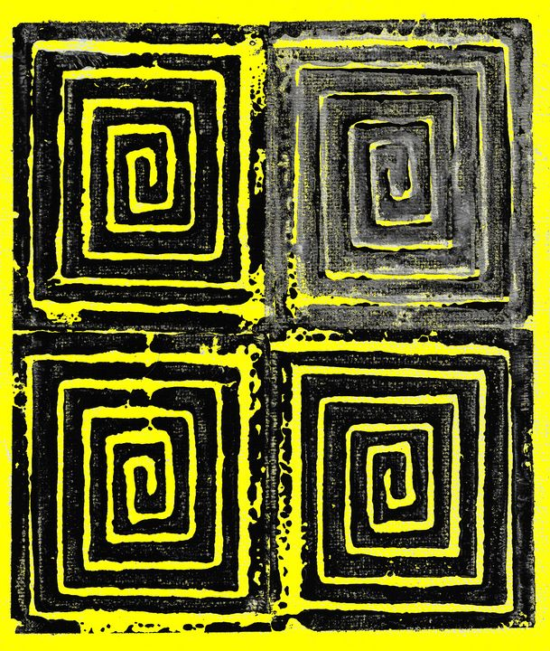 Spiral Squared in Yellow - Chris Doyle