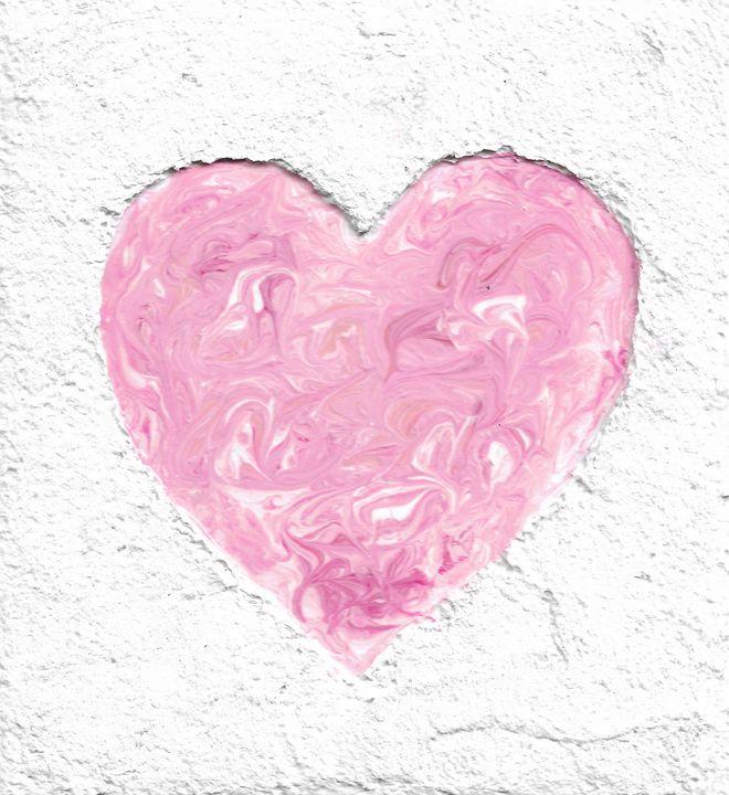 Pink Swirled Heart - Chris Doyle
