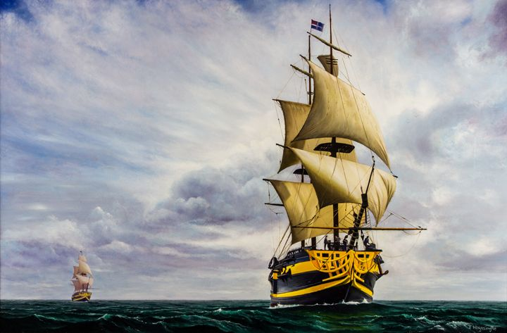 The Clipper - Painted by Jayantha Nagasinghe