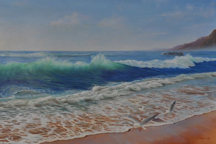 Beach - Painted by Jayantha Nagasinghe