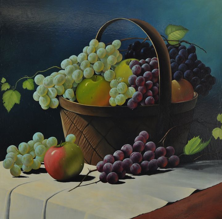 Fruit Basket - Painted by Jayantha Nagasinghe