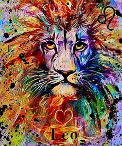 Leo Zodiac Art