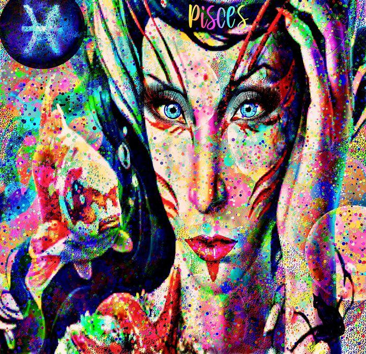 Pisces Zodiac Art - Laurie'sArt111