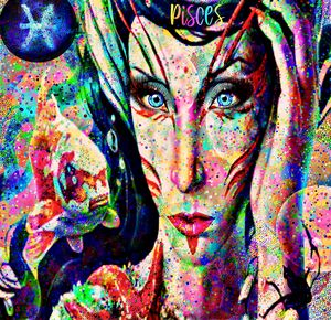 Pisces Zodiac Art