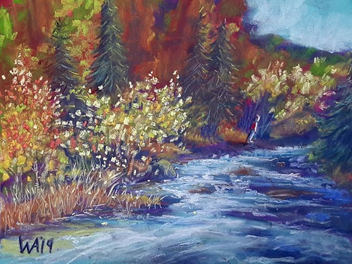 Leaning into Fall - Wendy Adams Pastels