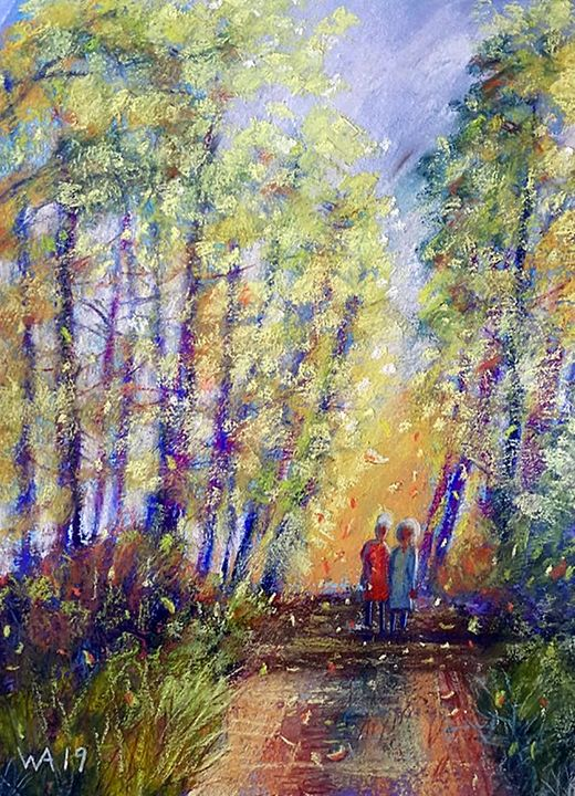 Strolling in the Autumn Wind - Wendy Adams Pastels