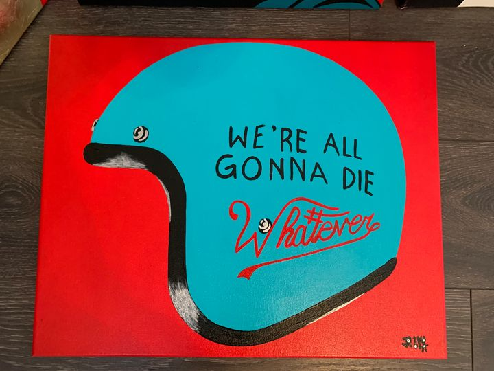 We're all gonna die/ teal - Art by James Rall