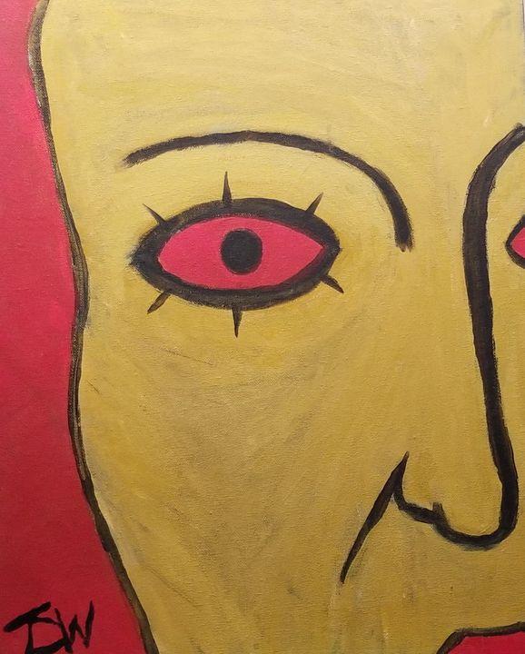 Red Eye - Brain Injured Art by Thomas D.Woods