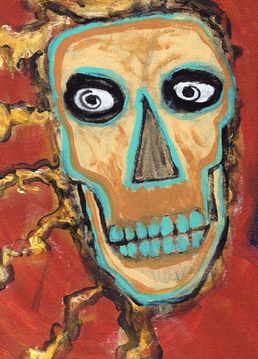 Shocking Death - Brain Injured Art by T. D.Woods