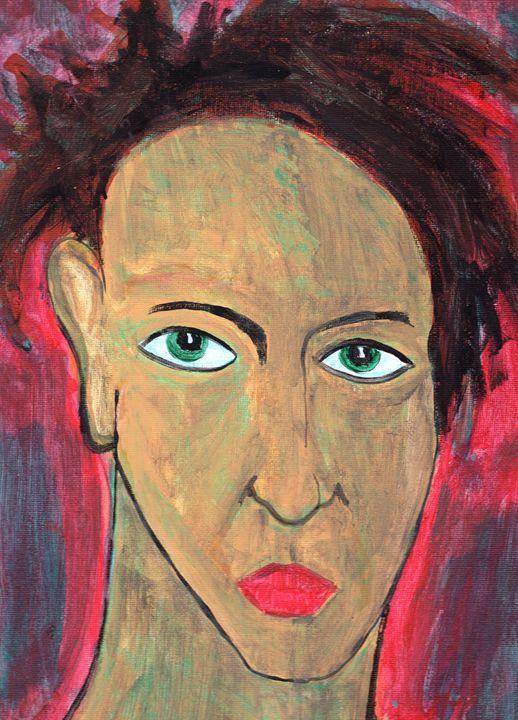 Disdain - Brain Injured Art by Thomas D.Woods